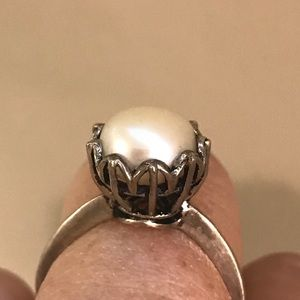 Jewelry - Vintage Sterling Silver & Natural Pearl Ring